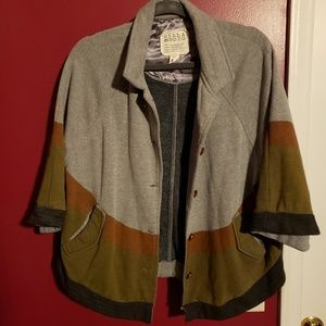 Billabong Cape in gray, rust and olive, size large